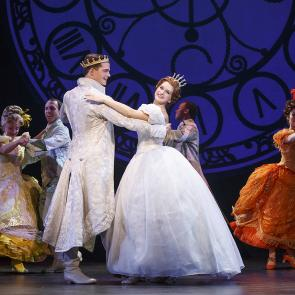 Hayden Stanes, Tatyana Lubov and the company of Rodgers + Hammerstein's CINDERELLA. © Carol Rosegg