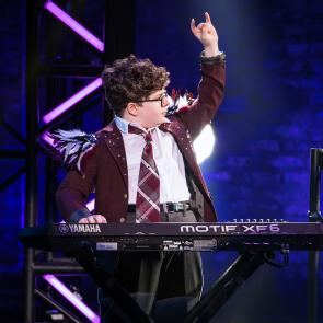 Theo Mitchell-Penner in the School of Rock Tour. © Matthew Murphy.