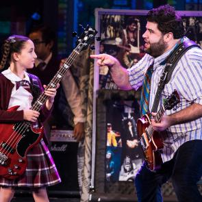 Theodora Silverman and Rob Colletti in the School of Rock Tour. © Matthew Murphy.
