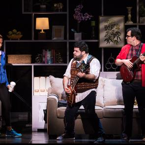 Emily Borromeo, Rob Colletti and Matt Bittner in the School of Rock Tour. © Matthew Murphy.