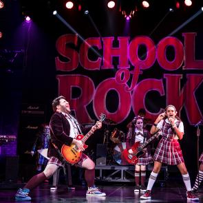 The cast of the School of Rock Tour. © Matthew Murphy.