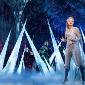 Caroline Bowman (Elsa) and the Company of Frozen North American Tour - photo by Deen van Meer